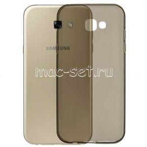 Чехол-накладка силиконовый для Samsung Galaxy A7 (2017) A720 (серый 0.3мм)