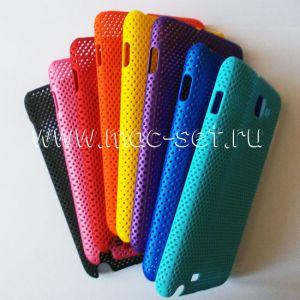 Чехол-накладка пластиковый сетка для Samsung Galaxy Note N7000