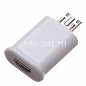 Переходник microUSB 5 pin - 11 pin для Samsung Galaxy S3 / S4 / Note 2 (белый)