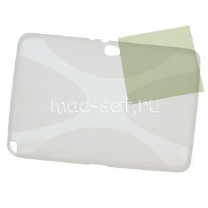 Чехол-накладка силиконовый для Samsung Galaxy Note 10.1 N8000 (прозрачный)