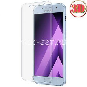 Защитное стекло 3D для Samsung Galaxy A3 (2017) A320 [изогнутое на весь экран] (прозрачное)