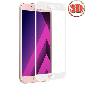 Защитное стекло 3D для Samsung Galaxy A5 (2017) A520 [изогнутое на весь экран] (белое)