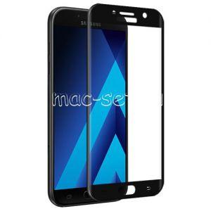 Защитное стекло 3D для Samsung Galaxy A5 (2017) A520 [изогнутое на весь экран] (черное)