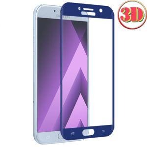 Защитное стекло 3D для Samsung Galaxy A5 (2017) A520 [изогнутое на весь экран] (синее)