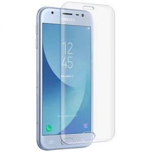 Защитное стекло 3D для Samsung Galaxy J3 (2017) J330 [изогнутое на весь экран] (прозрачное)