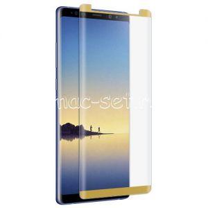 Защитное стекло 3D для Samsung Galaxy Note 8 N950 [изогнутое на весь экран] (золотистое)