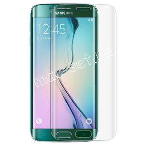 Защитное стекло 3D для Samsung Galaxy S6 edge G925F [изогнутое на весь экран] (прозрачное)