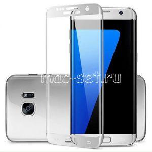 Защитное стекло 3D для Samsung Galaxy S7 edge G935 [изогнутое на весь экран] (белое)