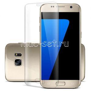 Защитное стекло 3D для Samsung Galaxy S7 edge G935 [изогнутое на весь экран] (прозрачное)