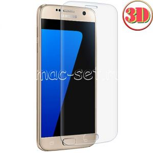 Защитное стекло 3D для Samsung Galaxy S7 G930 [изогнутое на весь экран] (прозрачное)