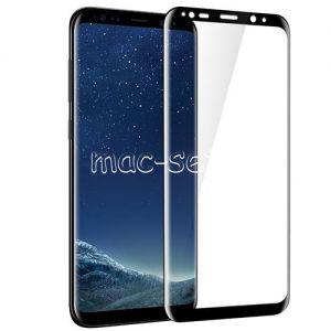 Защитное стекло 3D для Samsung Galaxy S8+ G955 [изогнутое на весь экран] (черное)