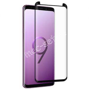 Защитное стекло 3D для Samsung Galaxy S9 G960 [изогнутое] (черное)