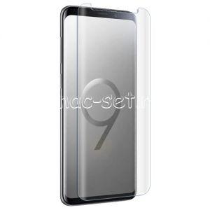 Защитное стекло 3D для Samsung Galaxy S9+ G965 [изогнутое на весь экран] (прозрачное)