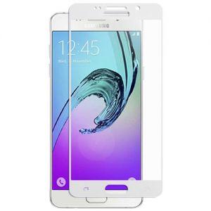 Защитное стекло для Samsung Galaxy A3 (2016) A310 [на весь экран] (белое)