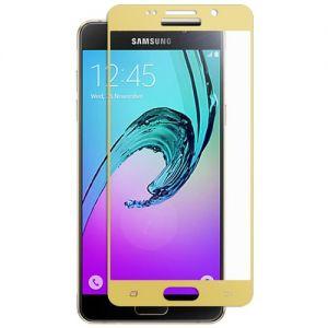 Защитное стекло для Samsung Galaxy A3 (2016) A310 [на весь экран] (золотистое)