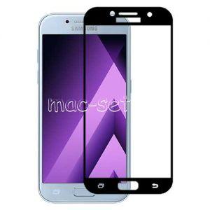 Защитное стекло для Samsung Galaxy A3 (2017) A320 [на весь экран] Aiwo (черное)