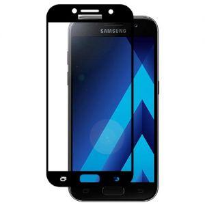 Защитное стекло для Samsung Galaxy A3 (2017) A320 [на весь экран] (черное)
