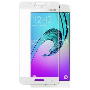 Защитное стекло для Samsung Galaxy A5 (2016) A510 [на весь экран] (белое)