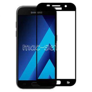 Защитное стекло для Samsung Galaxy A5 (2017) A520 [на весь экран] Aiwo (черное)