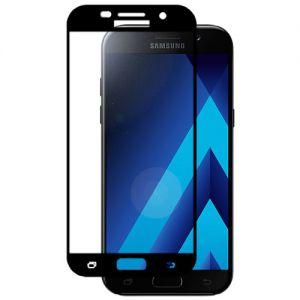 Защитное стекло для Samsung Galaxy A5 (2017) A520 [на весь экран] (черное)