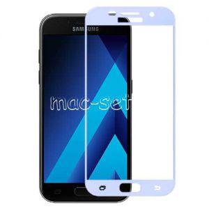 Защитное стекло для Samsung Galaxy A5 (2017) A520 [на весь экран] Aiwo (голубое)