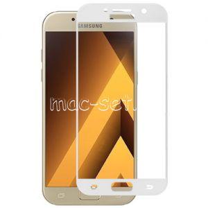 Защитное стекло для Samsung Galaxy A5 (2017) A520 [на весь экран] Red Line (белое)