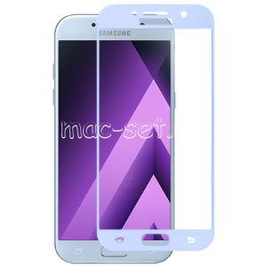 Защитное стекло для Samsung Galaxy A5 (2017) A520 [на весь экран] Red Line (голубое)
