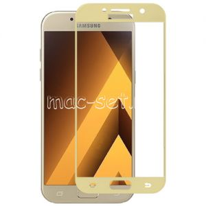 Защитное стекло для Samsung Galaxy A5 (2017) A520 [на весь экран] Red Line (золотистое)