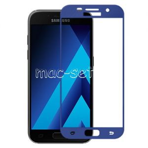 Защитное стекло для Samsung Galaxy A5 (2017) A520 [на весь экран] Aiwo (синее)