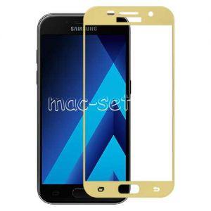 Защитное стекло для Samsung Galaxy A5 (2017) A520 [на весь экран] Aiwo (золотистое)