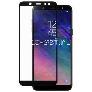 Защитное стекло для Samsung Galaxy A6 (2018) A600 [на весь экран] Red Line (черное)