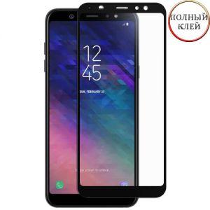 Защитное стекло для Samsung Galaxy A6+ (2018) A605 [клеится на весь экран] Red Line (черное)