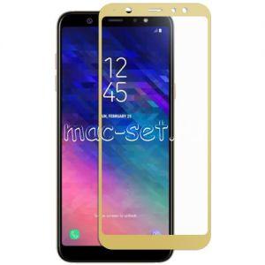Защитное стекло для Samsung Galaxy A6+ (2018) A605 [на весь экран] Red Line (золотистое)
