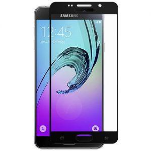 Защитное стекло для Samsung Galaxy A7 (2016) A710 [на весь экран] (черное)