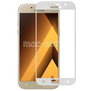 Защитное стекло для Samsung Galaxy A7 (2017) A720 [на весь экран] Aiwo (белое)