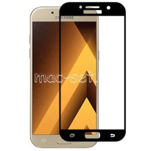 Защитное стекло для Samsung Galaxy A7 (2017) A720 [на весь экран] Aiwo (черное)