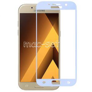 Защитное стекло для Samsung Galaxy A7 (2017) A720 [на весь экран] Aiwo (голубое)