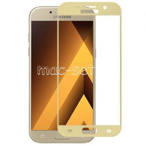 Защитное стекло для Samsung Galaxy A7 (2017) A720 [на весь экран] Aiwo (золотистое)
