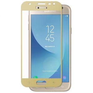Защитное стекло для Samsung Galaxy J3 (2017) J330 [на весь экран] (золотистое)