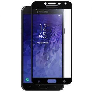 Защитное стекло для Samsung Galaxy J4 (2018) J400 [на весь экран] (черное)