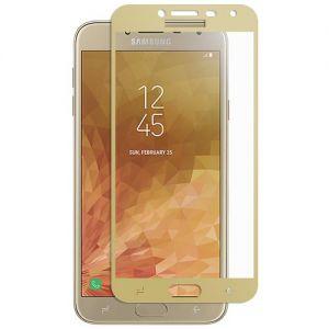 Защитное стекло для Samsung Galaxy J4 (2018) J400 [на весь экран] (золотистое)