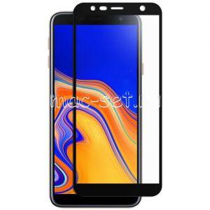 Защитное стекло для Samsung Galaxy J4+ J415 [на весь экран] (черное)