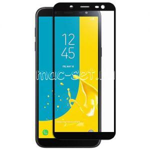 Защитное стекло для Samsung Galaxy J6 (2018) J600 [на весь экран] (черное)