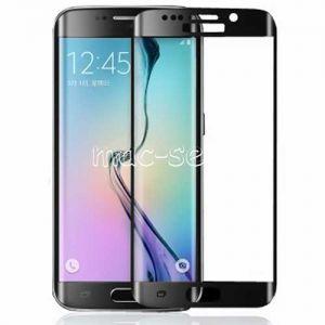 Защитное стекло 3D для Samsung Galaxy S6 edge G925F [изогнутое на весь экран] (черное)