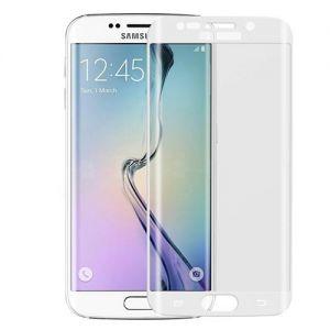 Защитное стекло 3D для Samsung Galaxy S6 edge G925F [изогнутое на весь экран] (белое)