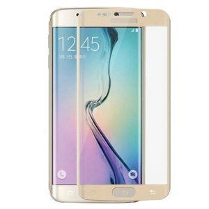 Защитное стекло 3D для Samsung Galaxy S6 edge G925F [изогнутое на весь экран] (золотистое)