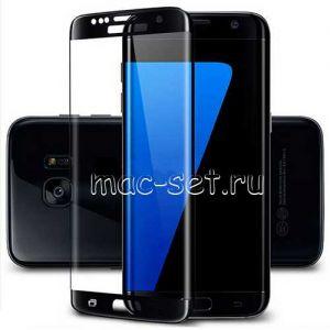 Защитное стекло 3D для Samsung Galaxy S7 edge G935 [изогнутое на весь экран] (черное)