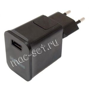 Сетевое зарядное устройство 1xUSB 2000mA для Samsung Tab / Note (черное)