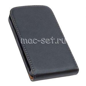 Чехол вертикальный флип кожаный для Samsung Galaxy Ace 2 I8160 (черный)