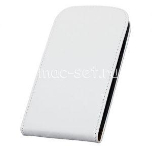 Чехол вертикальный флип кожаный для Samsung Galaxy S3 I9300 (белый)